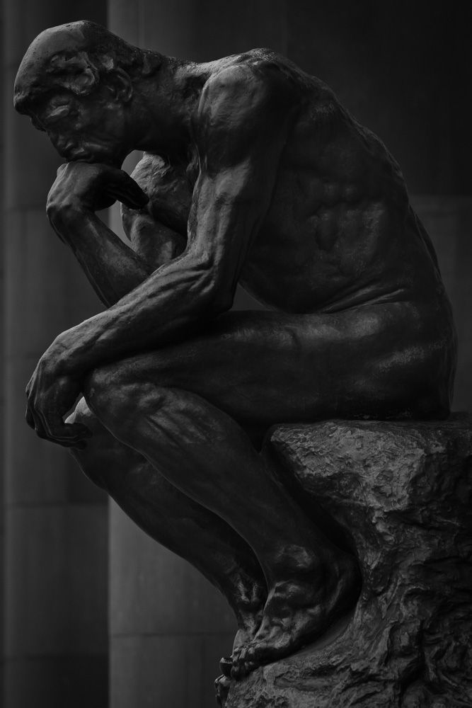 Le Penseur #Sculpture by Auguste Rodin - Collection of #Kunsthalle #Museum - #Bielefeld, Germany
