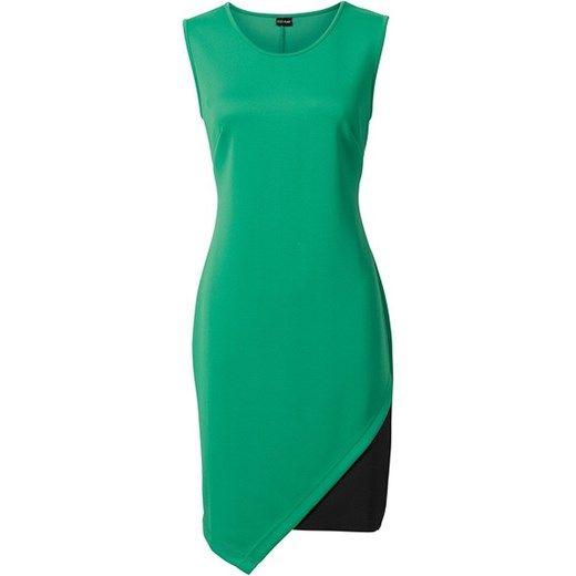 Sukienka bonprix zielony abstrakcyjne wzory