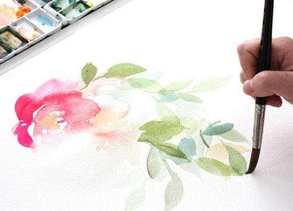 25 best ideas about watercolor flowers tutorial on for Painting on water tutorial