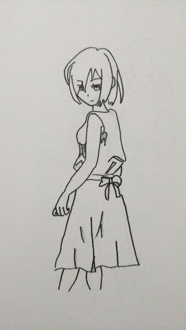 Just thinking #drawing #manga #anime #girl #thinking #contemplate