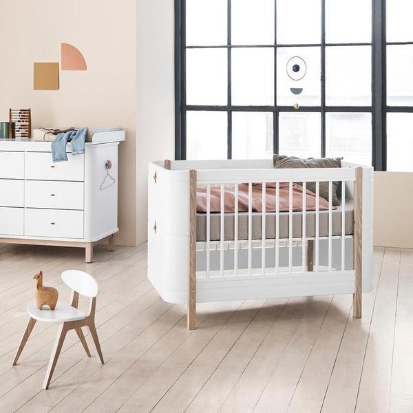Oliver Furniture  Babybett (und Kinderbett) Wood Mini   Weiss/Eiche