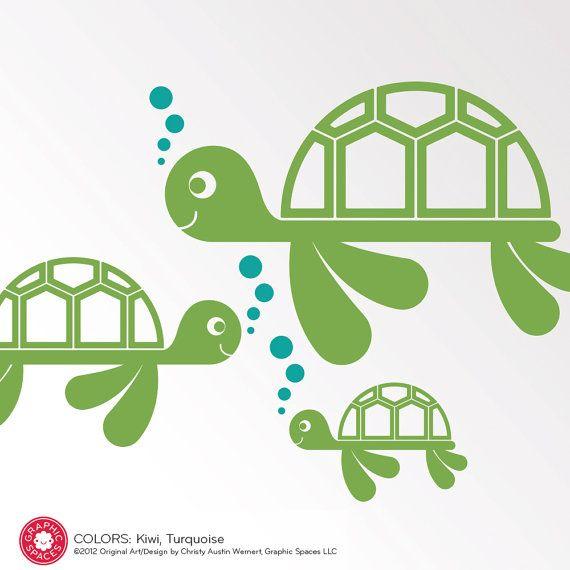 Sea Turtle Wall Decals Ocean Baby Nursery Kids door graphicspaces