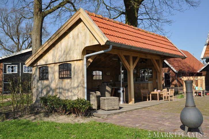 Kapschuur, eiken tuinhuis, terrasoverkapping, overkapping.