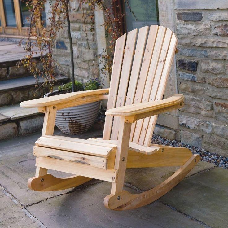 Wooden Garden Chair Rocking Rocker Solid Wood Relaxer Outdoor Garden Patio  Seat