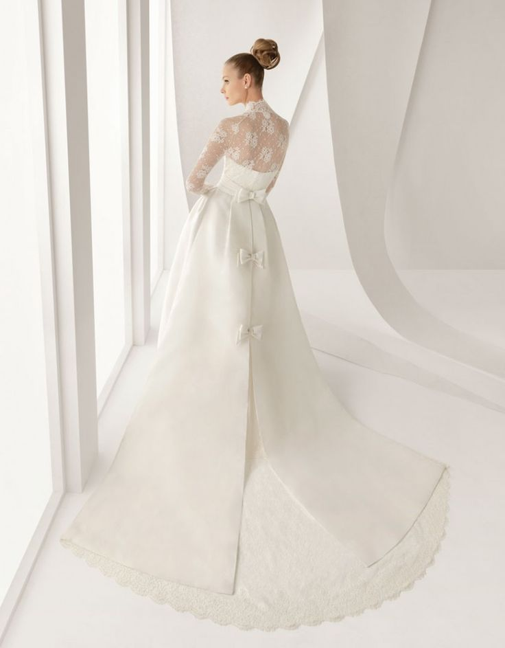 THE rosa clara gown from the back