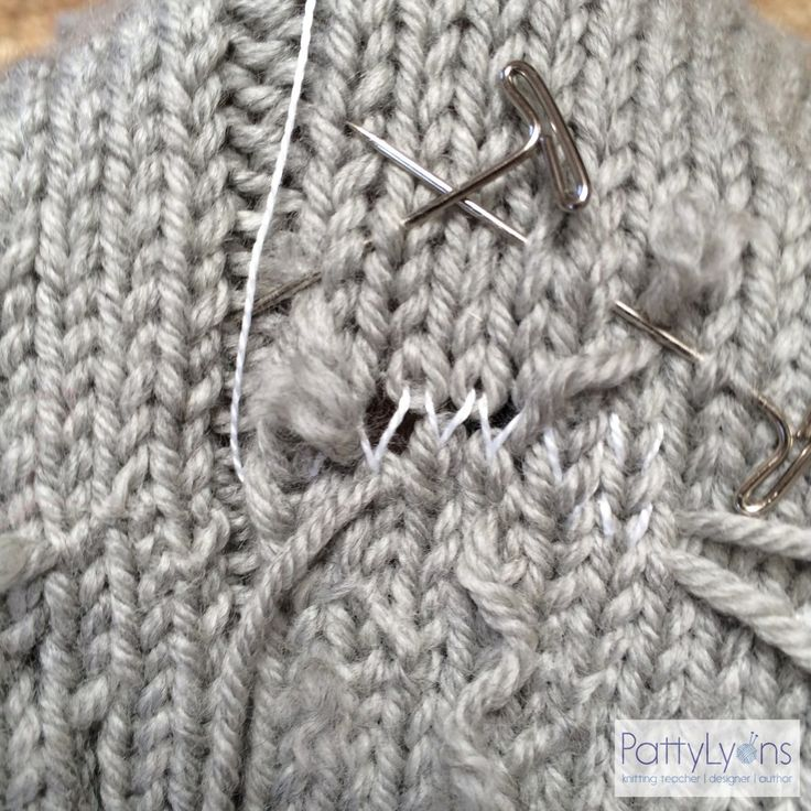 Tuesday Tip - How to Fix a Hole In Your Knitting ...
