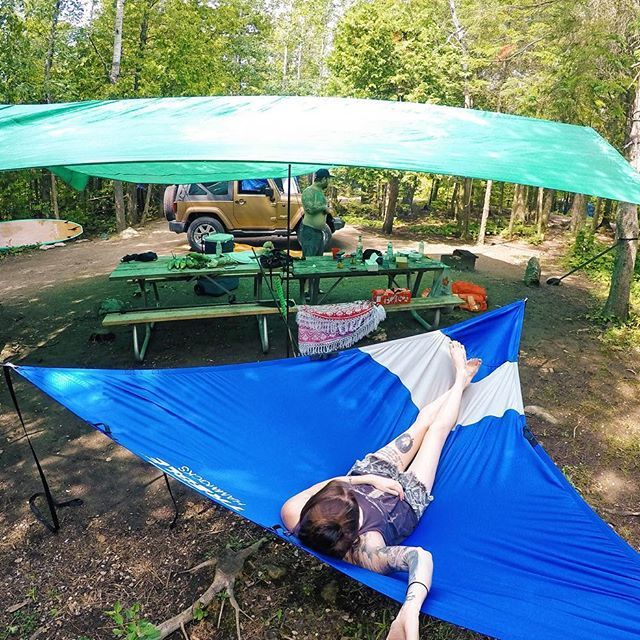Medium image of ultimate camping setup with my treble hammock at cypress lake campground bruce peninsula national park