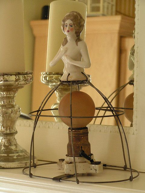 Vintage Half Doll Lamp by andrea singarella, via Flickr