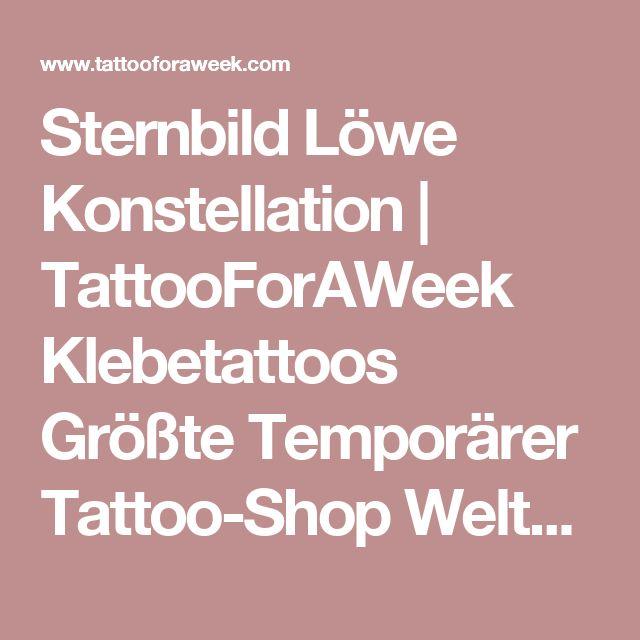 Sternbild Löwe Konstellation | TattooForAWeek Klebetattoos Größte Temporärer Tattoo-Shop Weltweit - Klebetattoos Produktinfo - Sterne - TW/K14-L9-R2-K1