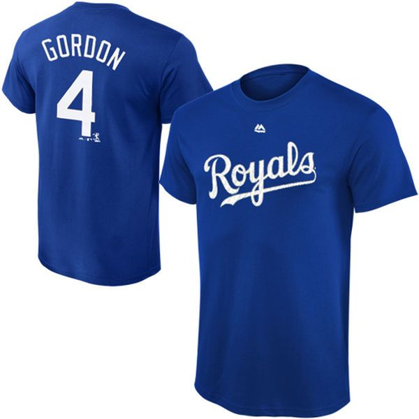 Alex Gordon Kansas City Royals Majestic Youth Player Name & Number T-Shirt - Royal - $21.99
