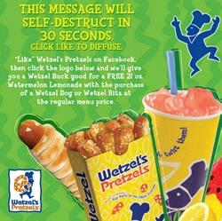 Wetzel pretzel coupons printable