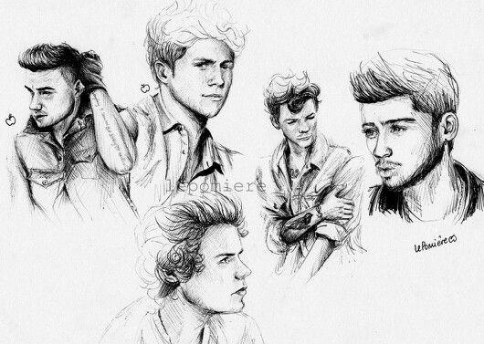 Liam Niall Harry Louis Zayn One Direction Fan Art