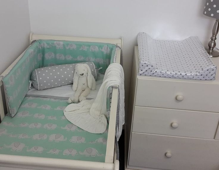Our #SweetEllie in #Mint and #Grey is the perfect combined with our #BabySpots, great for any #BabyBoy's #ElephantTheme nursery!  #BabyBedding #BabyLinen