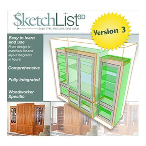 Sketchlist 3d furniture design software version 4 shop for Furniture building software