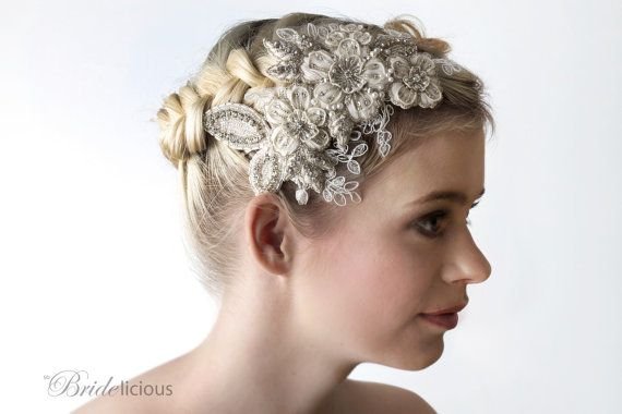 My Enchanting Miriam bridal hairpiece  by SoBridelicious on Etsy, $140.00