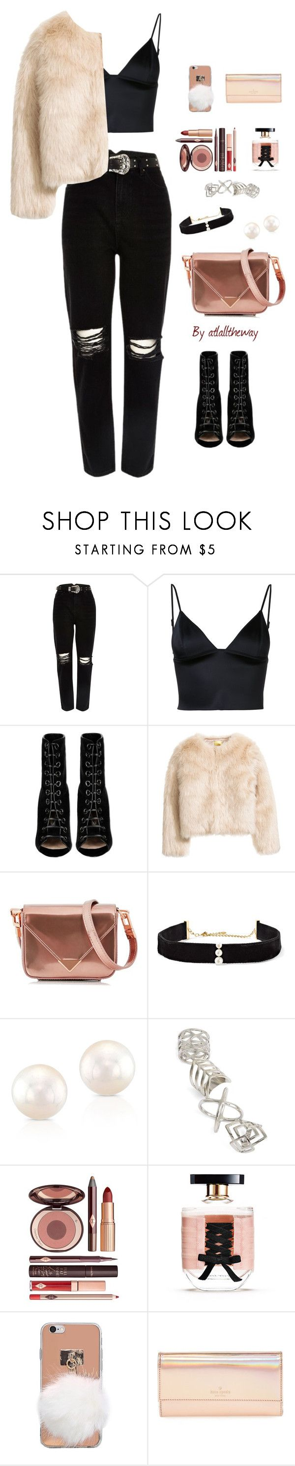"""Untitled #819"" by atlalltheway ❤ liked on Polyvore featuring River Island, T By Alexander Wang, Barbara Bui, Alexander Wang, Anissa Kermiche, Anne Sisteron, Topshop, Charlotte Tilbury, Victoria's Secret and Kate Spade"