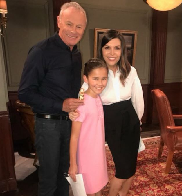 Brooklyn With Her Tv Grandparents Robert And Anna Scorpio Tristan Rogers And Finola Hughes General Hospital Hospital Series Kimberly Mccullough