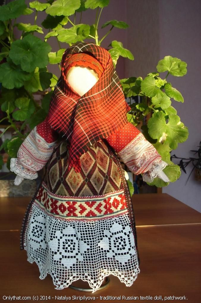 The Old believer traditional Russian textile doll