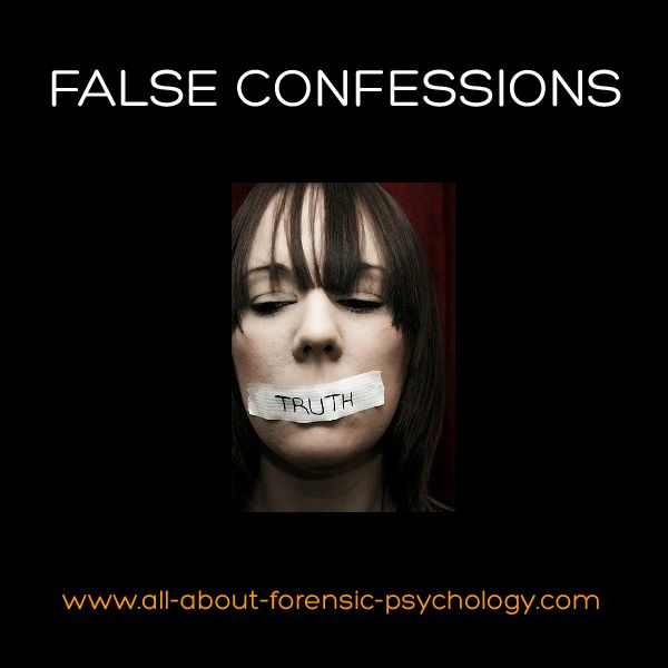 The topic of false confessions is a very important issue within a legal context where psychological knowledge and expertise can be brought be bear. Click on image or see following link to learn more here: http://www.all-about-forensic-psychology.com/false-confessions.html   Photo Credit: Victoria Landon)