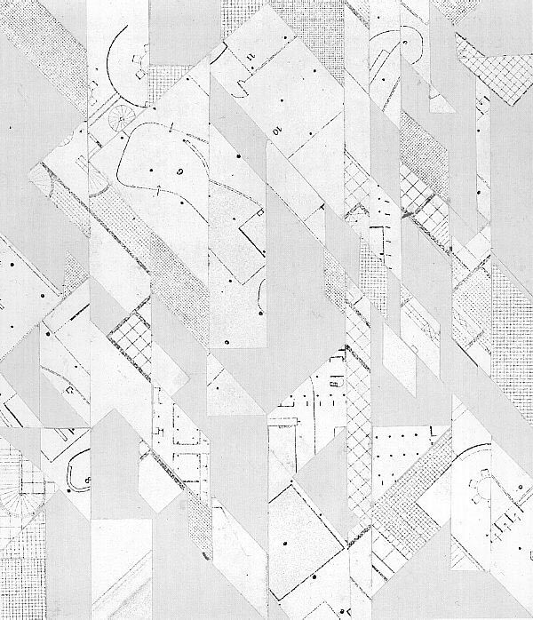 Daniel Libeskind's Early Collage Drawings - Collage drawing