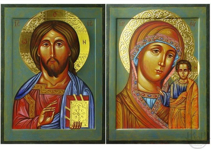 Венчальные иконы, благословение родителей на брак, как свидетельство их веры и любви. По традиции, родители благословляют молодых иконами.