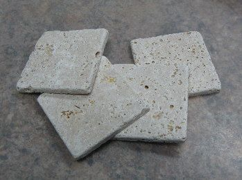 Plain natural stone rustic tile coasters by maggiemaybecrafty