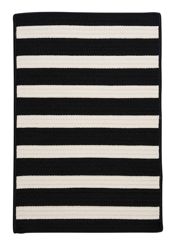 Find This Pin And More On Nice RUGS [u20a9]. RugStudio Presents Colonial Mills  Stripe It Black White ...