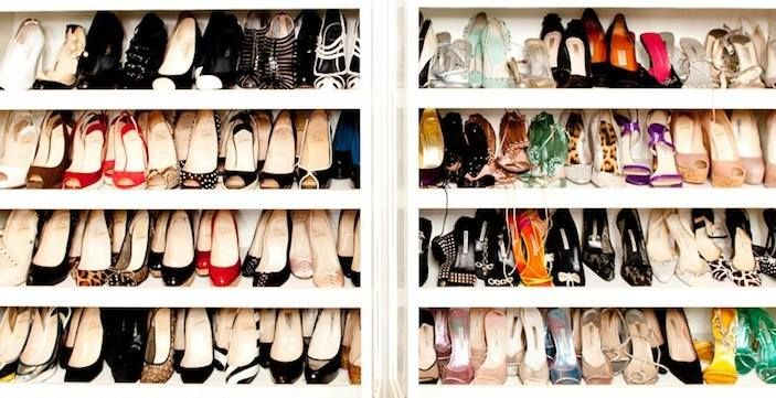 How would you react if you are left in front of a closet full of chic shoes?