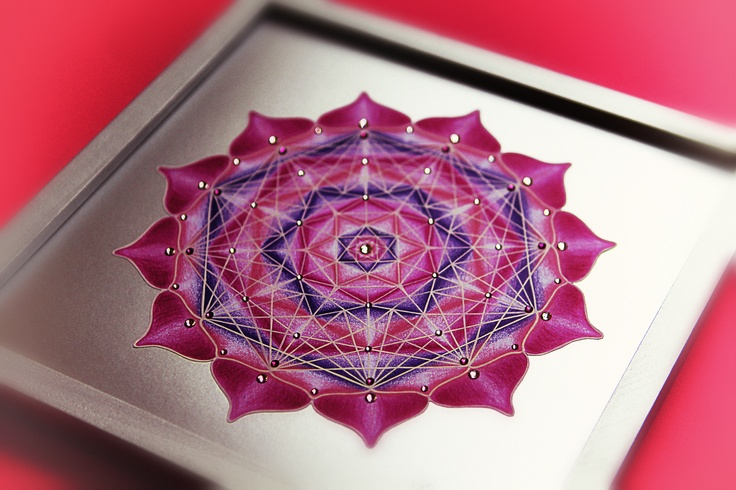 MANDALA OF FOURTH CHAKRA (heart chakra) meaning: empathy, harmony, romance, love, kindness, wisdom, inspiration, humility, protection, stability