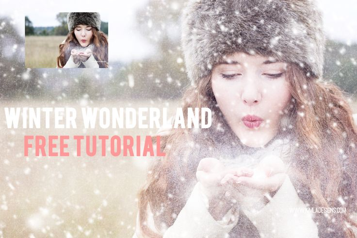 Winter Wonderland Free PS Tutorial adding a textures and Snow overlays.