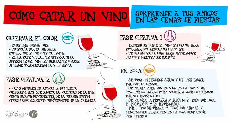 Consejos sobre cómo catar un buen vino.