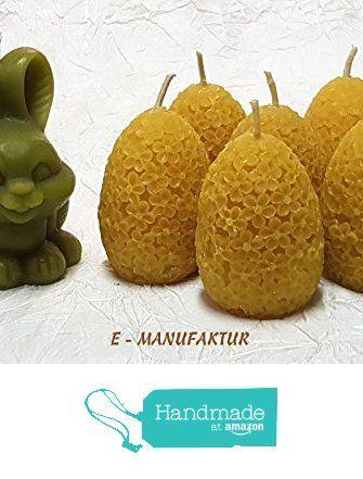 Bienenwachskerzen - Osterhase mit Eier aus Bienenwachs. von der E-MANUFAKTUR https://www.amazon.de/dp/B06WLJLJY9/ref=hnd_sw_r_pi_dp_Qo0OybADG06CN #handmadeatamazon