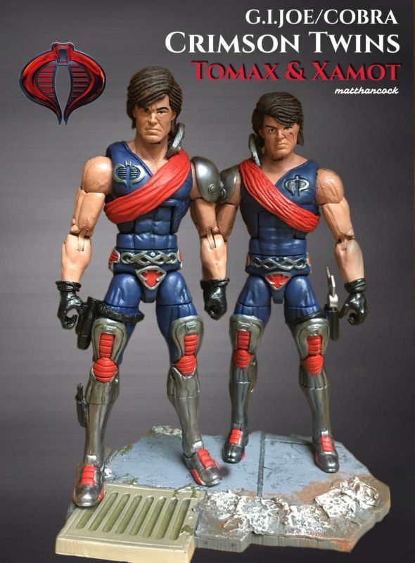 Tomax & Xamot (Crimson Twins Cobra) (G.I. Joe) Custom Action Figure