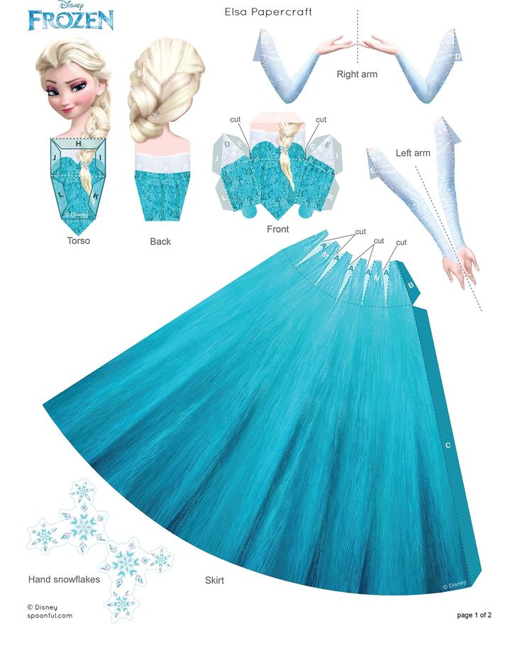 perfect for frozen inspired centerpieces or giveaways!  Elsa and Anna Paper dolls you can even add some sparkly tulle to Elsa's gown to give it a more 3D effect