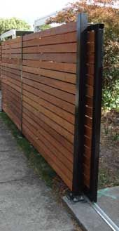 Diy Sliding Wood Fence Gate - WoodWorking Projects & Plans - back of garage to keep access to yard??