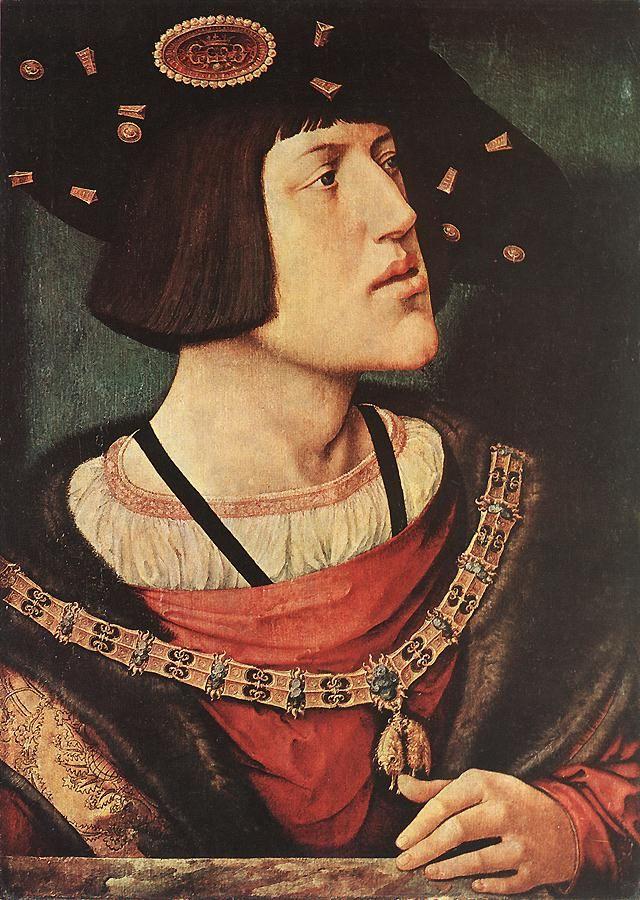 CARLOS I - V de Austria (1500 - 1558) Emperador del S.S.I.R.G., Rey de las Españas y de las Indias / By Bernard van Orley, ca.1515.