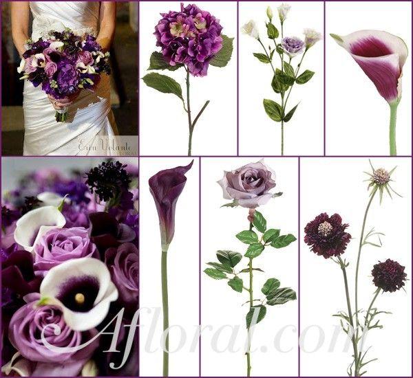 #purple wedding #calla lily #afloral http://blog.afloral.com/inspiration-boards/mallorys-purple-winter-wedding-flowers-inspiration-board/