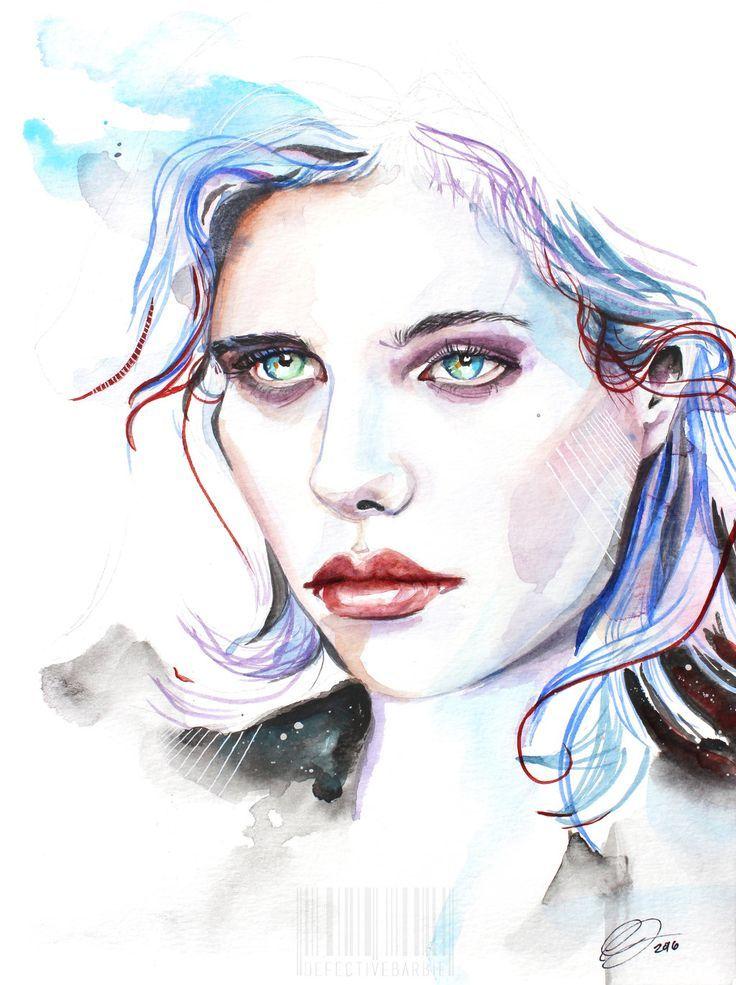 Pin Von Jazmin Ruiz Auf Watercolor Aquarell Gesicht Aquarell