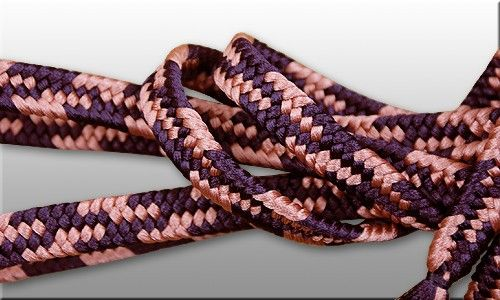 Sageo shigeuchi namikawa style. 2-colors : purple and salmon. Traditional samurai colors set. Great cord for samurai swords in standard lenth 220cm, also available in other diameters. Strong, thick, deforming resistant, very presentable. Hand made in japanese kumihimo manufactory.