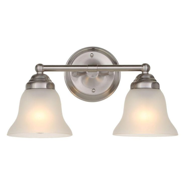 Hampton Bay 2 Light Brushed Nickel Vanity Light D3279 Bays Brushed Nickel And Lights