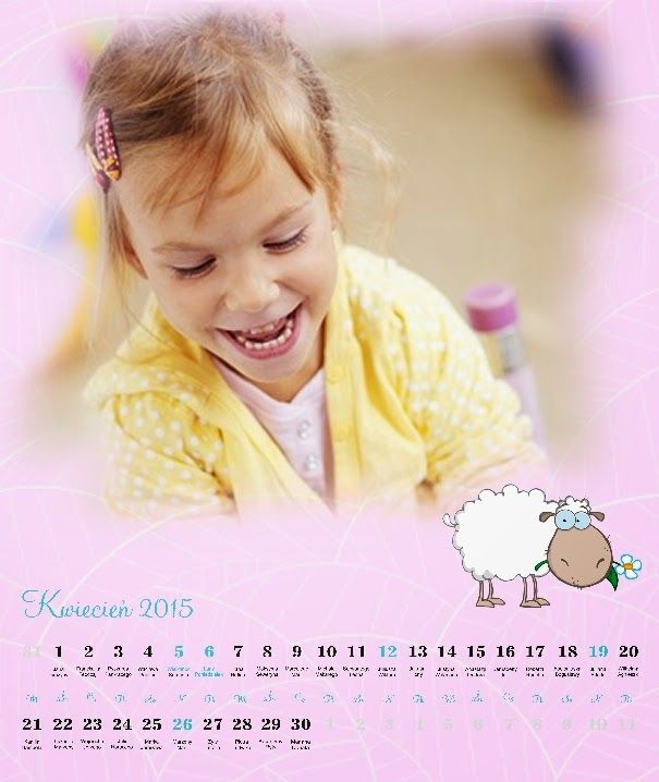 Fotokalendarz dla dziecka - projekt izziBook.pl