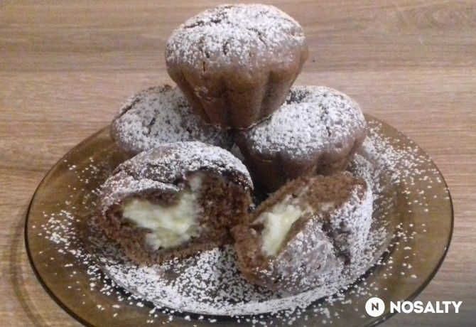 Kakaós-pudingos muffin