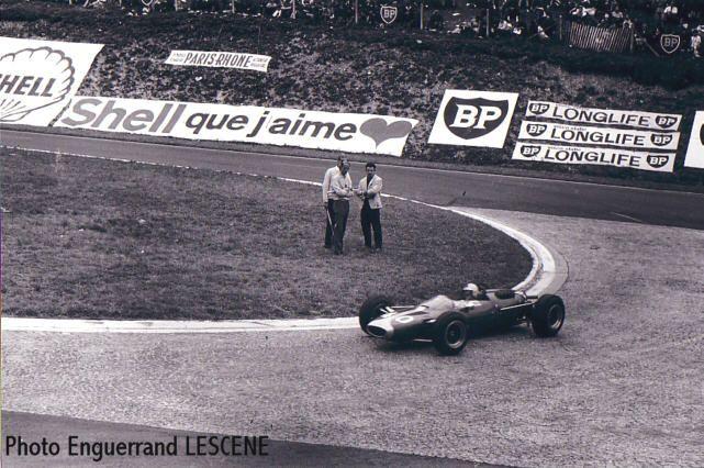 Éric Offenstadt - Cooper T75 BRM -  Éric Offenstadt - XIII Grand Prix de Rouen 1965 - Trophées de France, round 3