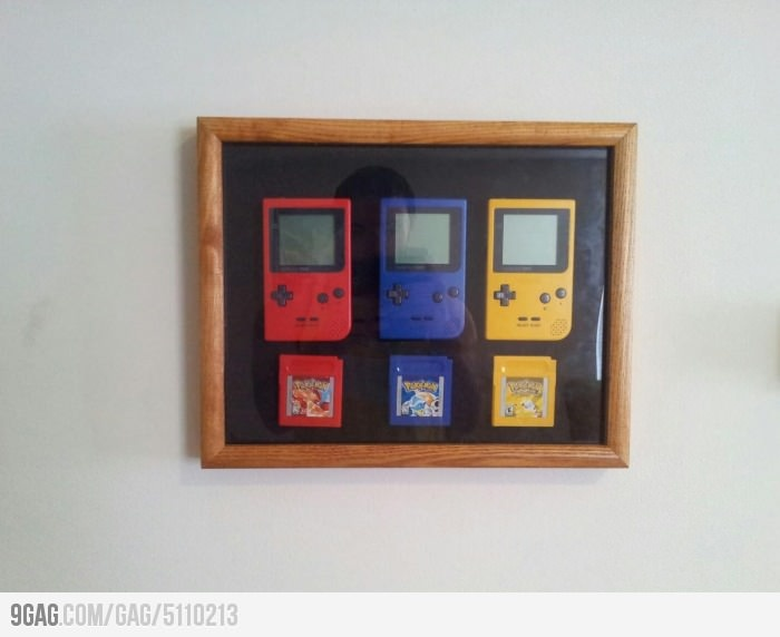 I need this!: Google Image, Pokemon Trophy, Games Rooms, Gameboy Frames, Geek Inside, Geek Stuff, Funny Pictures, Comic Memes, Comic Gif