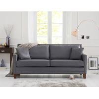 Aston Grey Leather 3 Seater Sofa U2013 AbodeLy Part 91