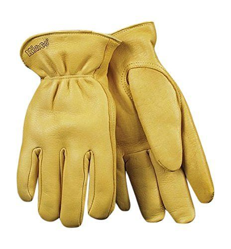KINCO 90HK-XL Men's Lined Grain Deerskin Gloves, Heat Keep Lining, Double Shirred Elastic Back, X-Large, Golden -- See this awesome image  : Gardening for Beginners