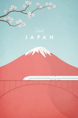 Travel poster - Henry Rivers - Japan