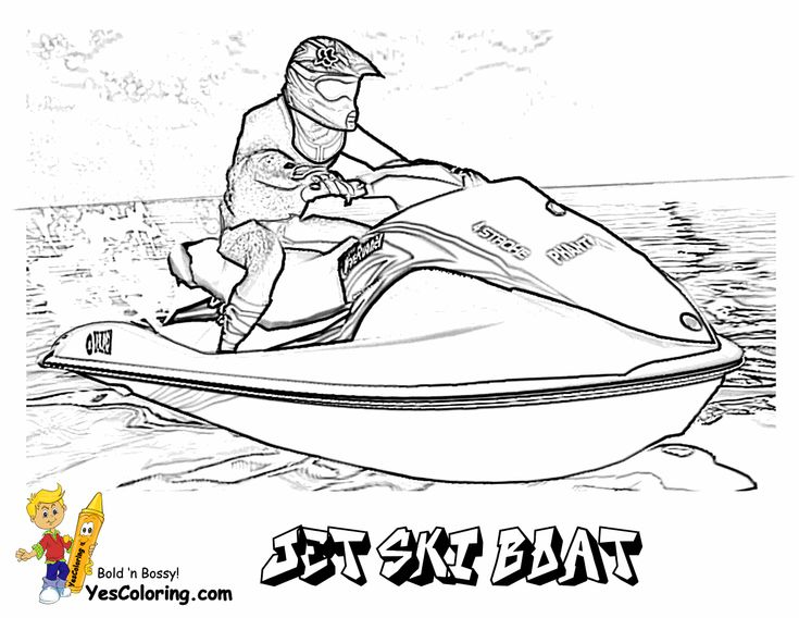 you can slide crayon onto these bossy boat printables of jet skis fishermen and rowboats print out these unusual boat coloring pages of shrimp boat - Boat Coloring Page