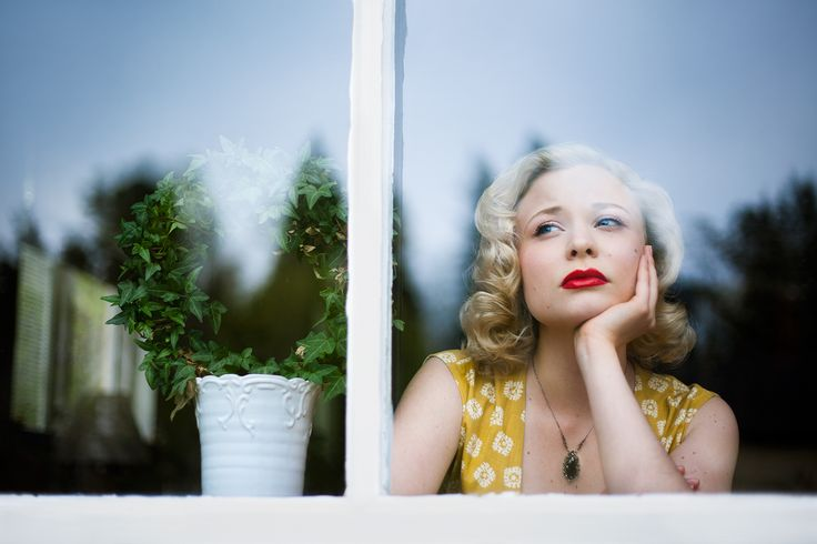 Singer Anna Mosten Through the Window * Photographer: Emmelie Aslin - www.emmelieaslin.se