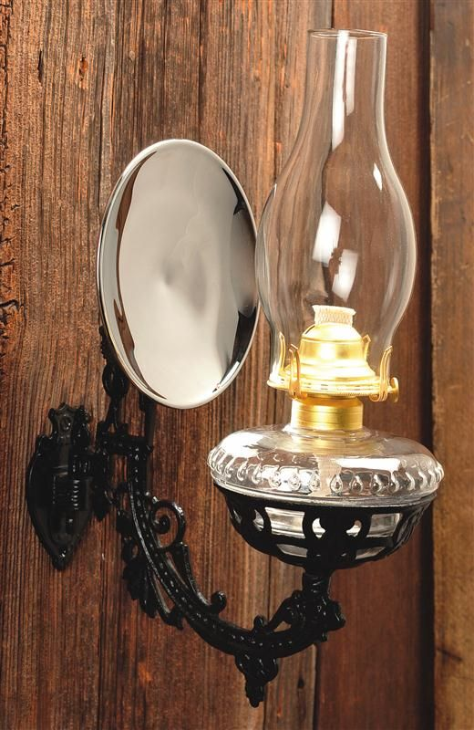 Victorian Oil Lamp with mercury glass reflector. I have one that was used in an old country church.
